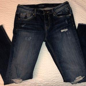 Vigoss-The Chelsea-Skinny frayed hem jeans